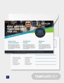 Free Gym Postcard Template
