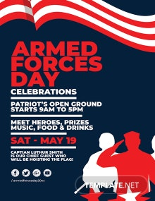 Free Armed Forces Day Poster Template