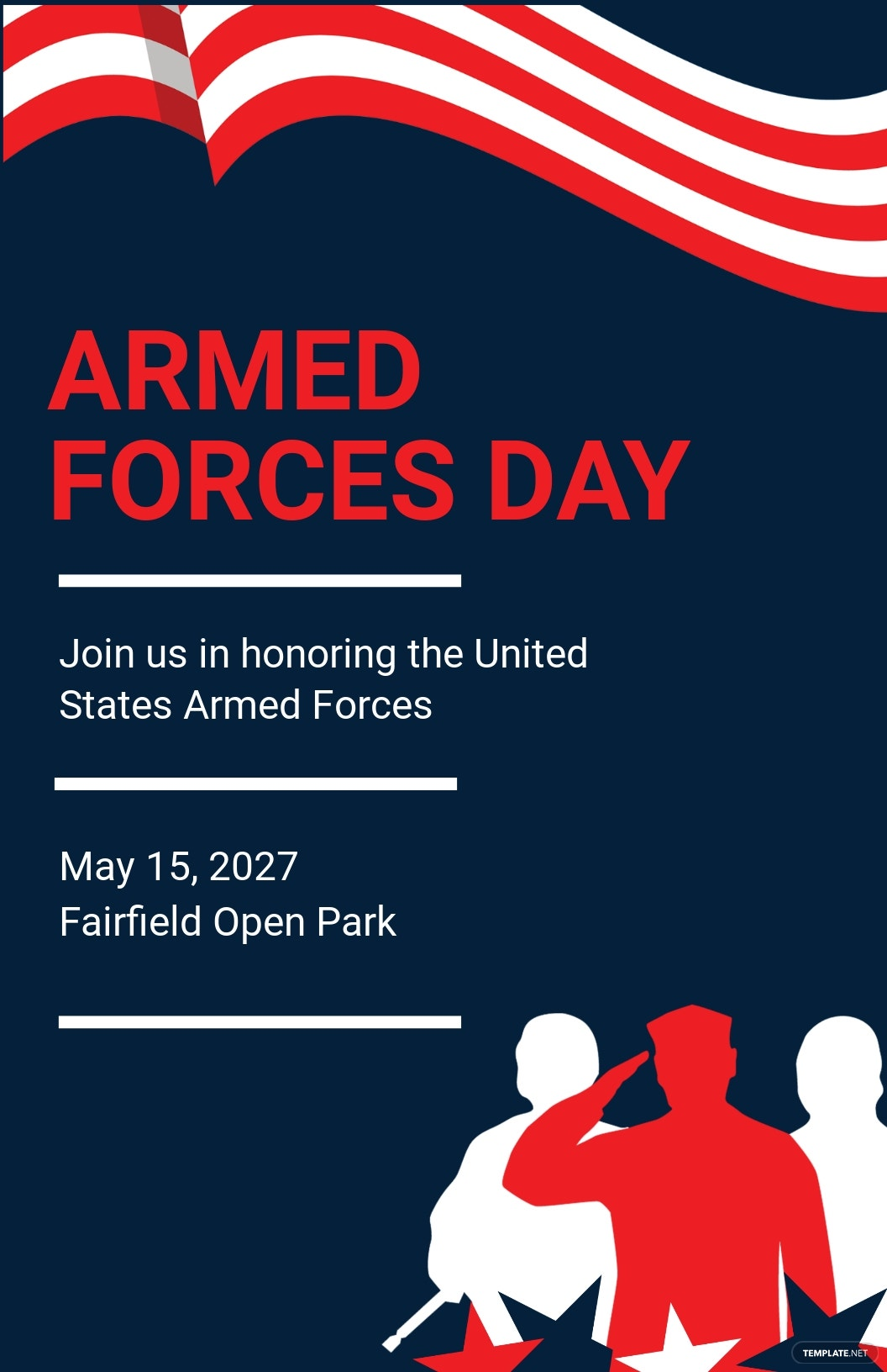 Armed Forces Day Poster Template