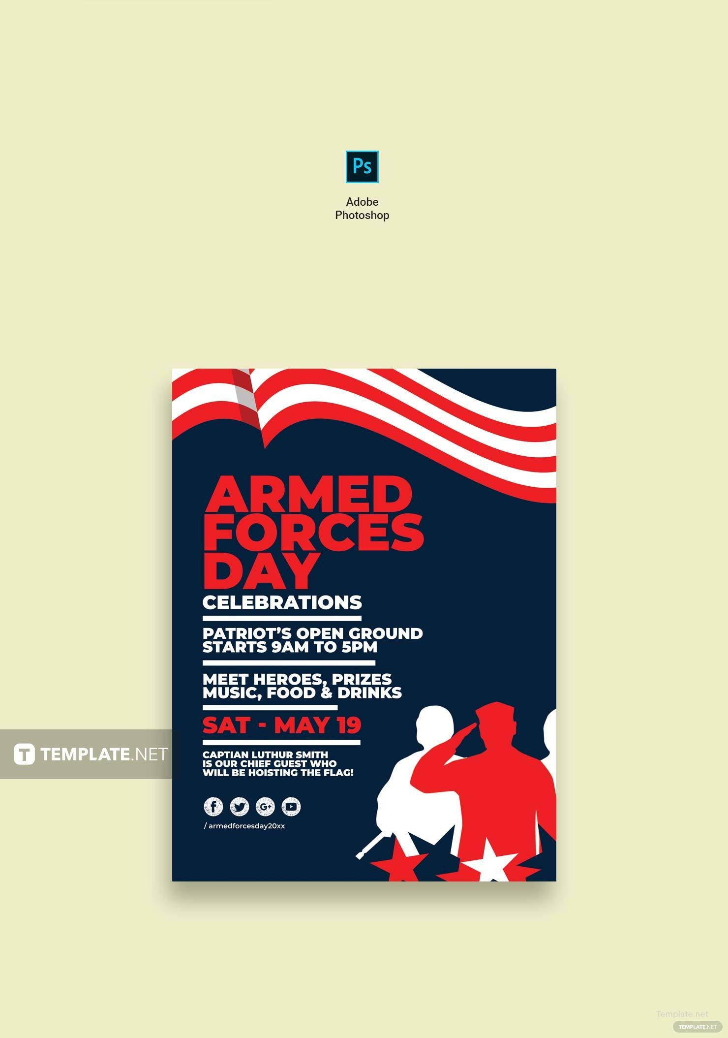 Editable Armed Forces Day Poster