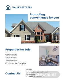 Commercial Leasing Realtor Flyer Template