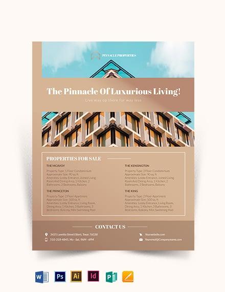 Luxury Apartment/ Condo Flyer Template
