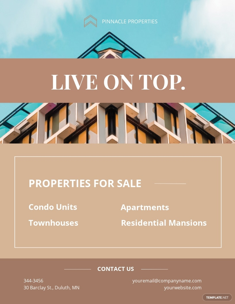 Luxury Apartment/ Condo Flyer Template [Free JPG] - Illustrator, InDesign, Word, Apple Pages, PSD, Publisher
