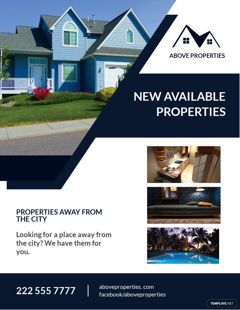Free Real Estate House Flyer Template.jpe