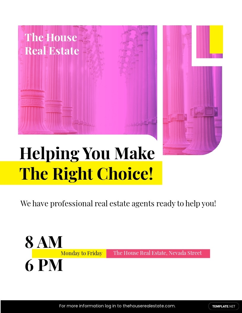 Real Estate Broker Marketing Flyer Template