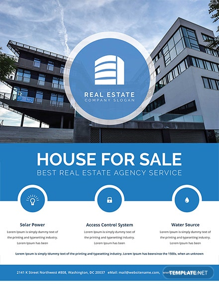 real estate sale flyer template 1x
