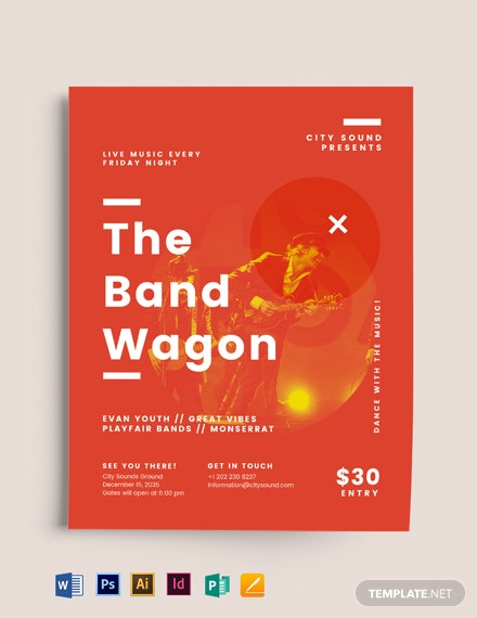 The Band Wagon Flyer Template