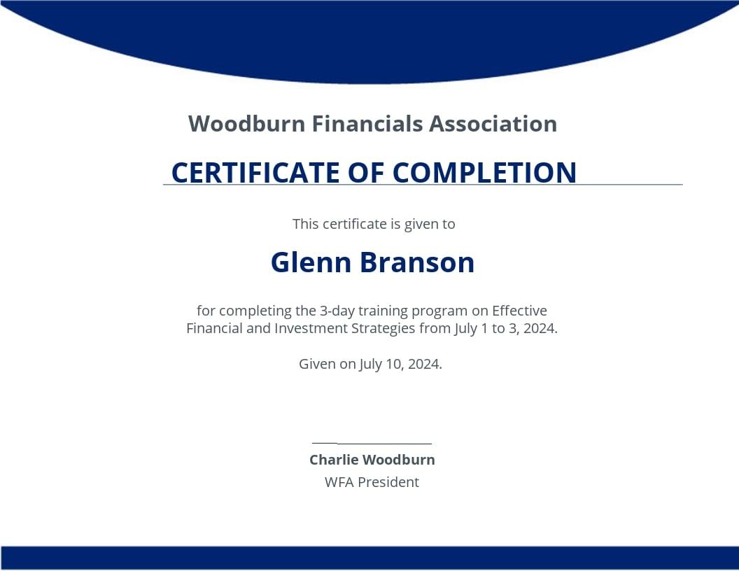 Free Program Completion Certificate.jpe