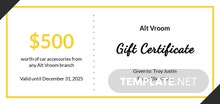 Free Gift Certificate for Business