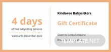 Free Babysitting Gift Certificate Template