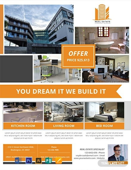 Free Real Estate Agency Flyer Template