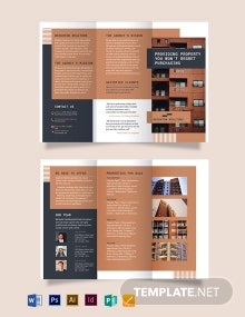 Apartment/Condo Tri-fold Brochure Template