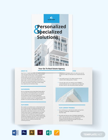 Apartment/Condo Broker Bi-Fold Brochure Template