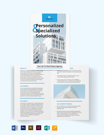 Apartment/Condo Broker Bi-Fold Brochure Template