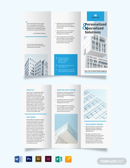 Apartment/Condo Broker Tri-Fold Brochure Template