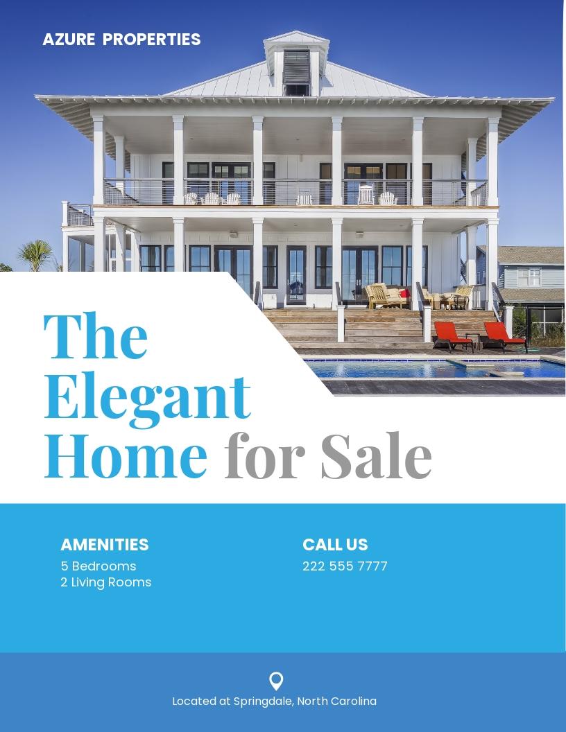Elegant Real Estate Flyer Template.jpe