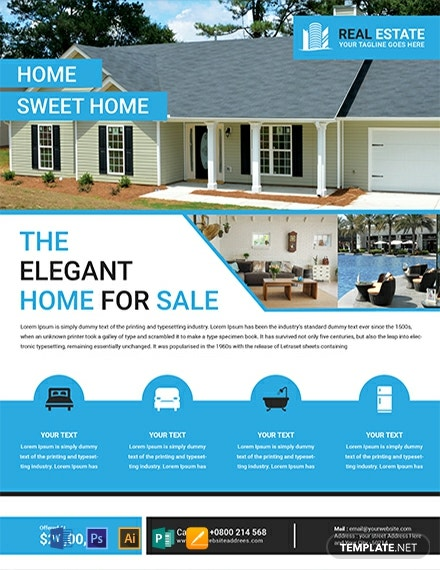 Free Elegant Real Estate Flyer Template