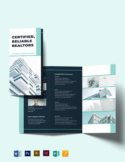 Apartment/Condo Inspector Tri-Fold Brochure Template
