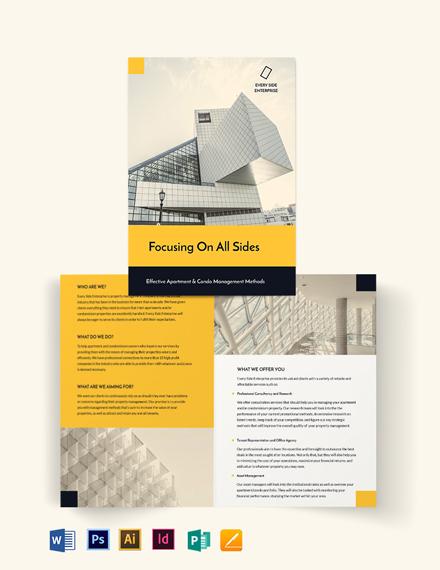 Apartment/Condo Property Management Bi-Fold Brochure Template
