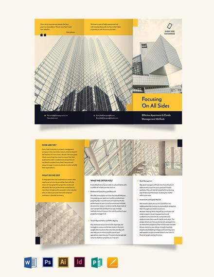 Apartment/Condo Property Management Tri-Fold Brochure Template