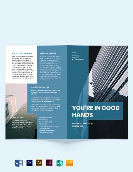 Commercial Building Inspector Bi-Fold Brochure Template