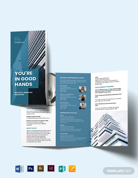 Commercial Building Inspector Tri-Fold Brochure Template