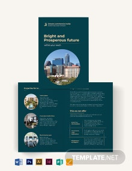 Commercial Sale Bi-Fold Brochure Template