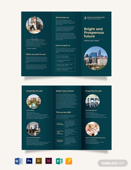 Commercial Sale Tri-Fold Brochure Template