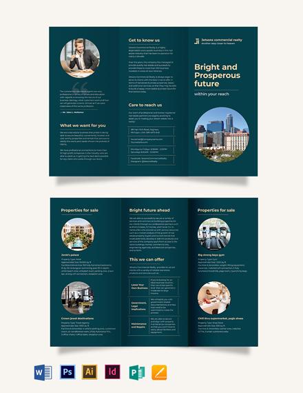 Commercial Sale Tri-Fold Brochure Template