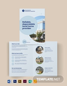 Property Maintenance Bi-fold Brochure Template