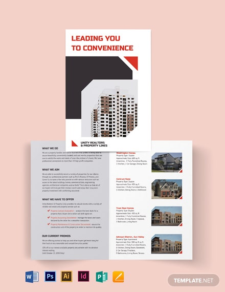 Apartment/Condo Realtor Brochure Bi-fold Brochure Template