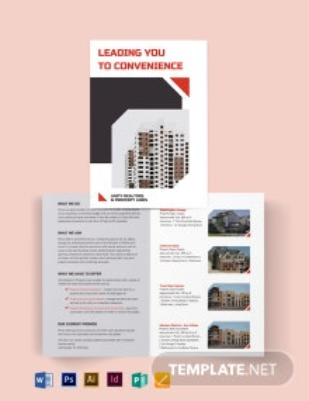 Apartment/Condo Realtor Brochure Bi-fold Brochure Template