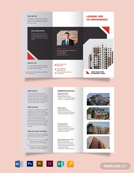 Apartment Condo Realtor Brochure Tri Fold Brochure Template Word