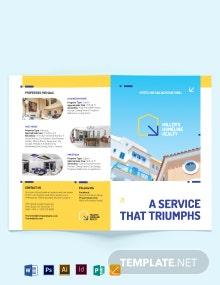 Award Winning Realtor Bi-Fold Brochure Template