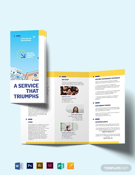 Award Winning Realtor Tri-Fold Brochure Template