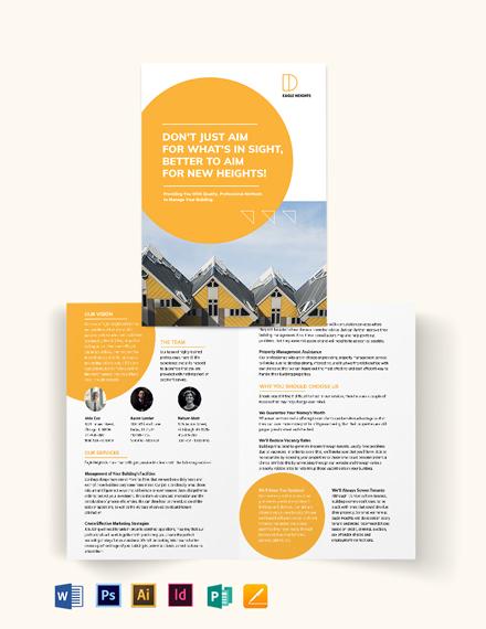 Building Management Bi-Fold Brochure Template