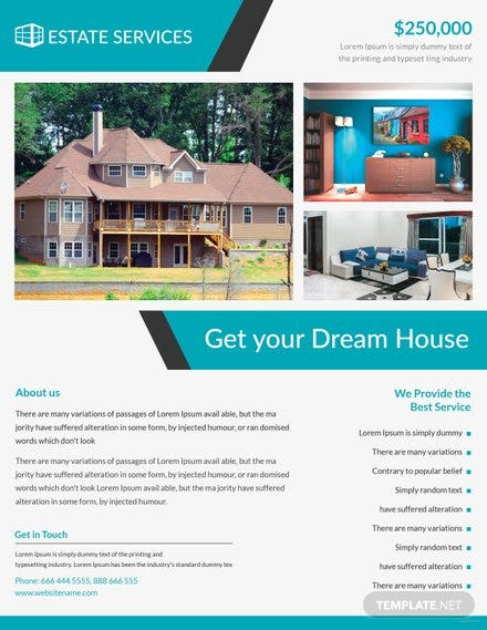 free real estate flyer template in adobe photoshop illustrator