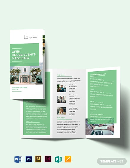 Disastor Inspection Tri-Fold Brochure Template