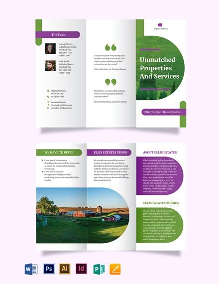 Farm Ranch Tri-Fold Brochure Template