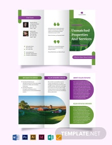 Farm Ranch Tri-Fold Brochure Template