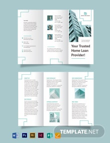 Home/House Loan Tri-fold Brochure Template