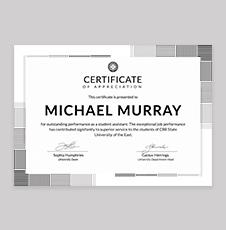 Free Formal Certificate of Appreciation Template