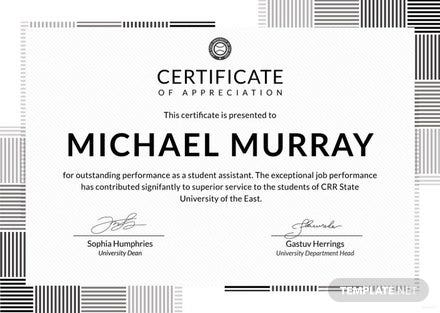 Amazing ... Free Formal Certificate Of Appreciation Template