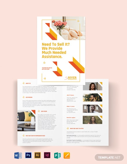 Lisitng Agent Bi-Fold Brochure Template
