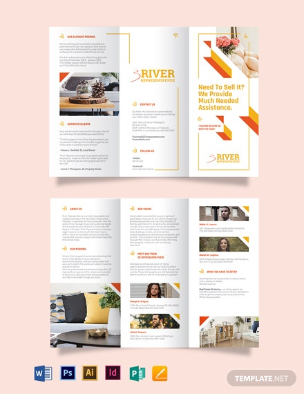 Lisitng Agent Tri-Fold Brochure Template