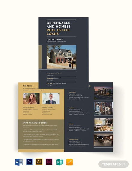 Mortgage Lender Bi-Fold Brochure Template