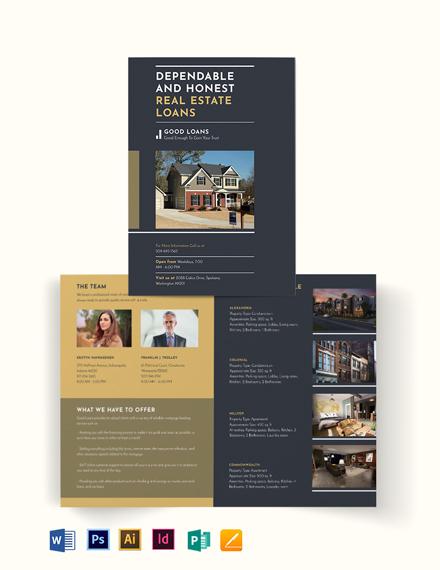 Mortgage Lender Bi-Fold Brochure Template