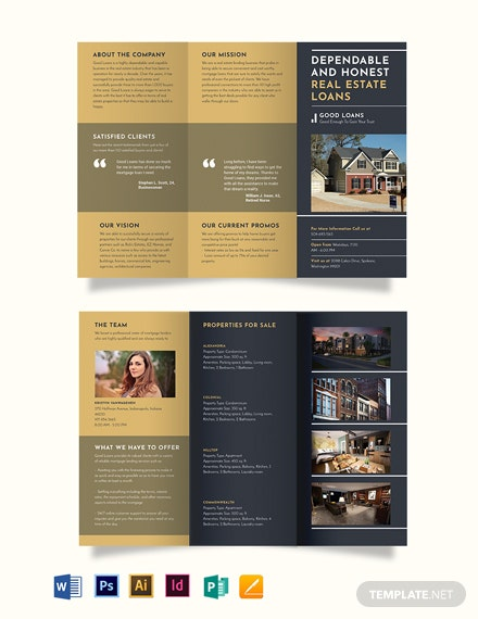 Mortgage Lender Tri-Fold Brochure Template