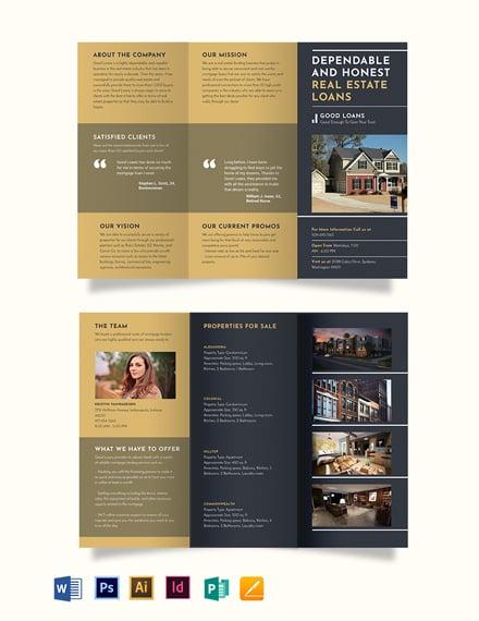 Mortgage Lender Tri-Fold Brochure Template