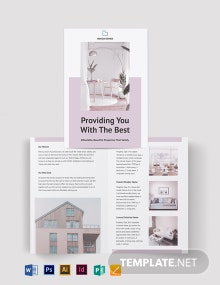 Open House Bi-fold Brochure Template